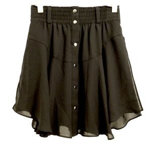 ❤️3for$15❤️Black Skirt with front snaps